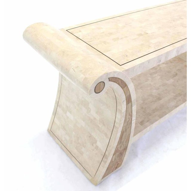 Maitland - Smith Maitland Smith Tessellated Stone Veneer Console Table For Sale - Image 4 of 7