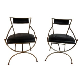Mid-Century Iron Side Chairs - A Pair