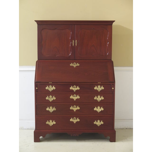 1970s Vintage Kittinger Colonial Williamsburg Mahogany Desk For Sale - Image 13 of 13