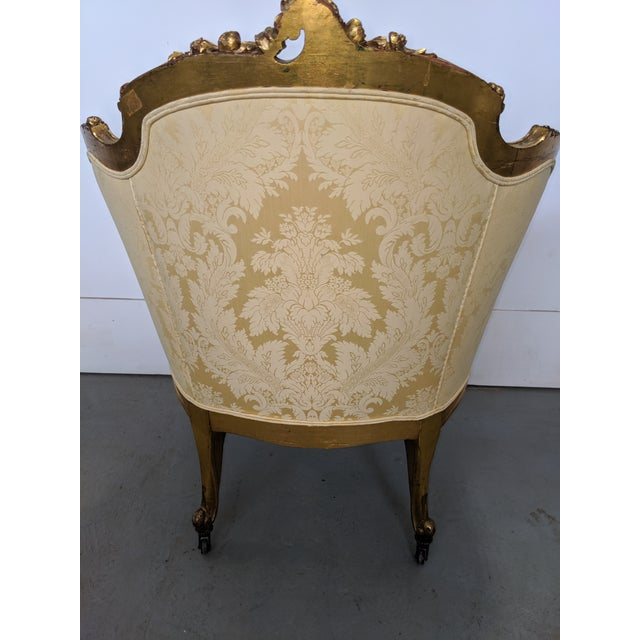 Gold 1860's French Arm Chair For Sale - Image 8 of 10