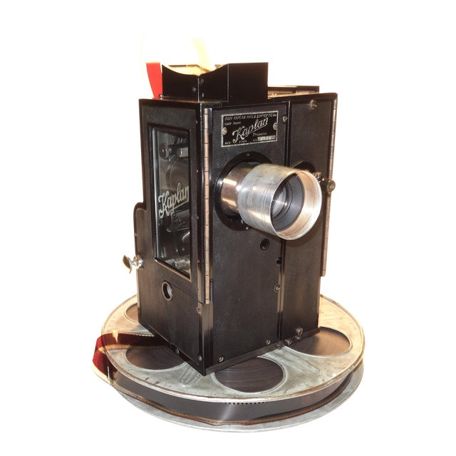 Kaplan 35mm Cinema Movie Projector Head, Circa 1930 Fully Restored and Gorgeous. For Sale