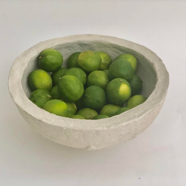 1960s Rustic Hand-Crafted Papier-Mache Bowl For Sale In Los Angeles - Image 6 of 7