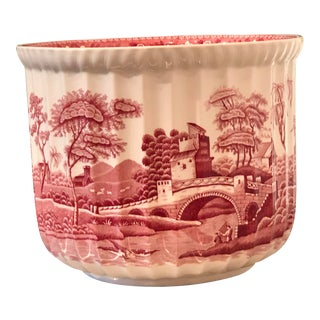 "Spode ""Pink Tower"" Cachepot/Jardiniere For Sale"