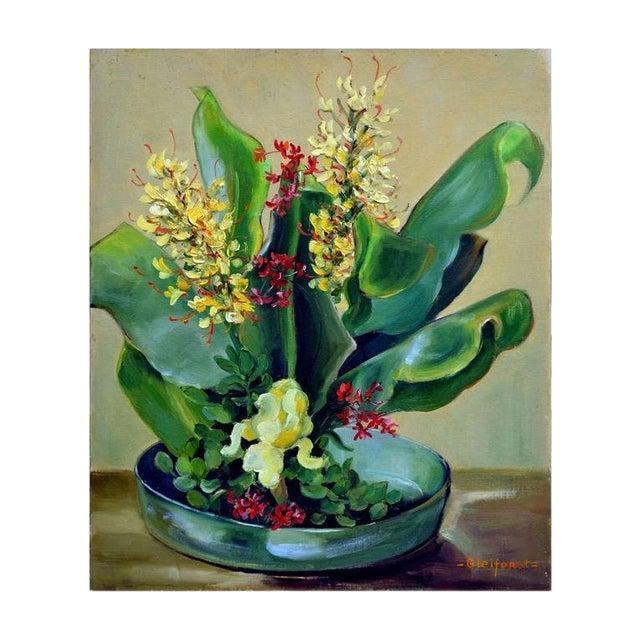 Tropical Bonsai Still Life by Helen Gleiforst For Sale