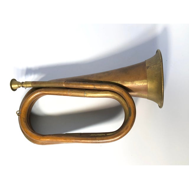 English Traditional Early 20th Century Antique Copper Military Bugle For Sale - Image 3 of 9