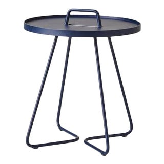 Cane-Line On-The-Move Side Table, Small, Midnight Blue For Sale