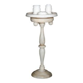 Italian Marble Turned Column Smoking Table, 20th Century For Sale