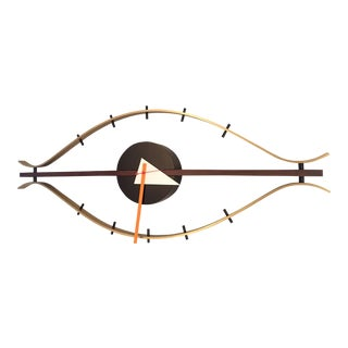 "Mid-Century Modern George Nelson ""Eye"" Wall Clock"