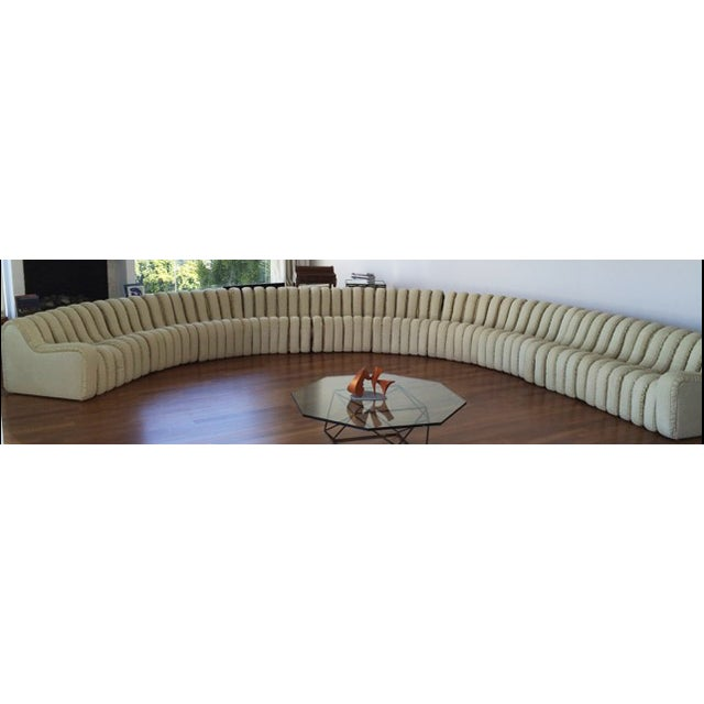 DeSede Non-Stop Sectional in Ivory Suede - Image 2 of 5