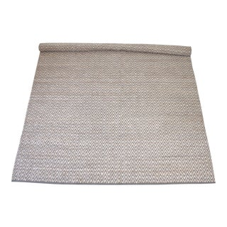 Modern Chevron Gray Wool and Natural Fiber Rug 8x10 For Sale