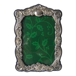 """Vintage Silver Picture Frame Velvet Back-7.5""""x10.5"""""""