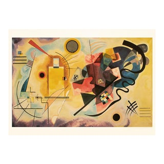 """1990 Wassily Kandisnsky """"Yellow-Red-Blue"""", Large First Edition Abstract Poster For Sale"""