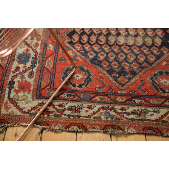 "Textile Antique Hamadan Rug - 4' x 6'3"" For Sale - Image 7 of 11"