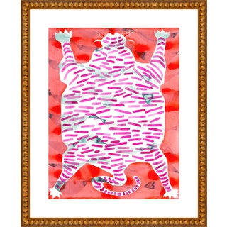 "Medium ""Tiger Rug"" Print by Kate Roebuck, 26"" X 32"" For Sale"