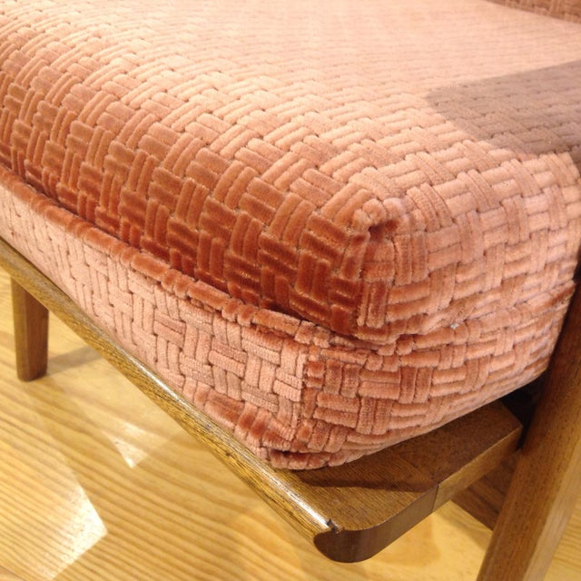 Vintage Mid-Century Oak & Burnt Orange Arm Chair - Image 7 of 9