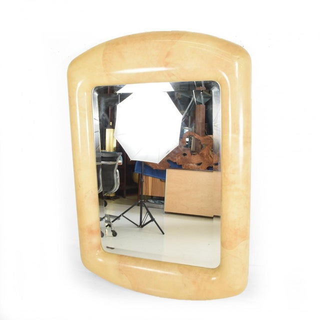 Robert Scott & Associates Inc. Mid-Century Modern Goatskin Mirror After Karl Springer For Sale - Image 11 of 11