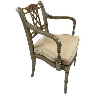Moviestar Glam Custom Silverleaf and Gilded Armchair For Sale