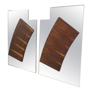 Pair of 1960s Large Rosewood Mirrors For Sale