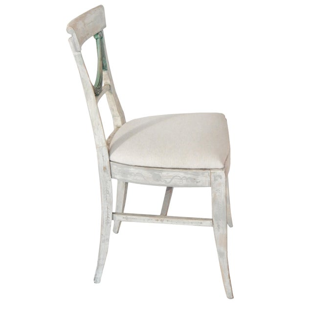 Gustavian (Swedish) Set of Four Gustavian Style Chairs For Sale - Image 3 of 10