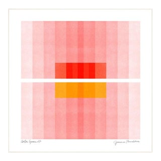 """""""Color Space Series 27: Pink, Red, Yellow"""" Abstract Print by Jessica Poundstone, Framed For Sale"""