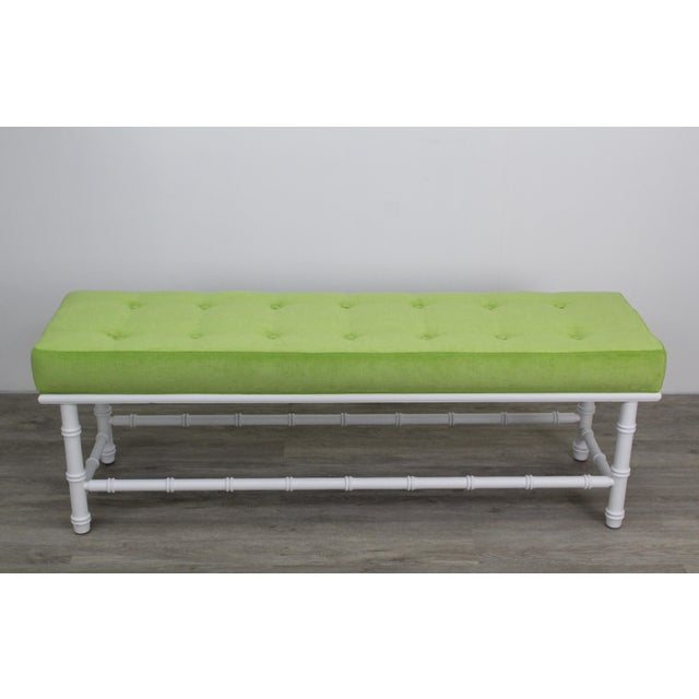 Mid-Century Palm Beach Style Bench For Sale - Image 9 of 9