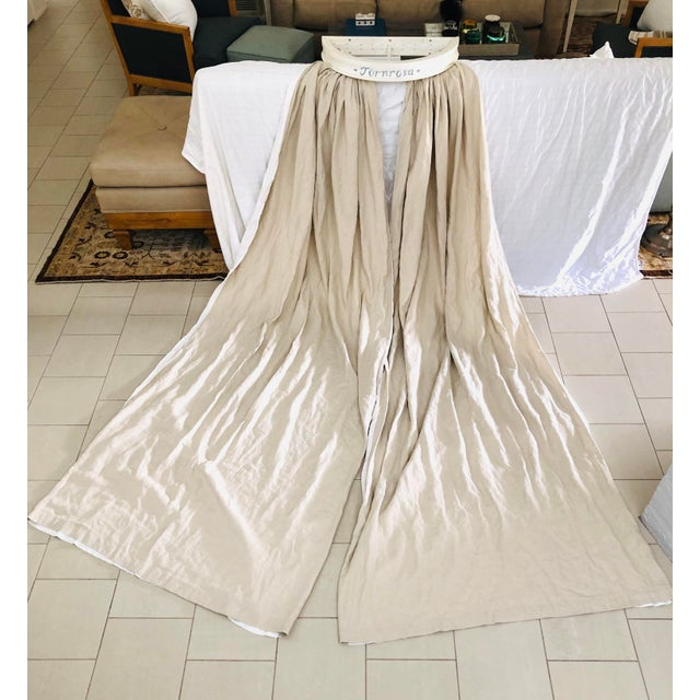 Swedish Gustavian Bed Canopy With Linen Drapery For Sale - Image 11 of 13