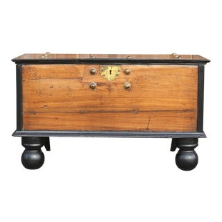 19th Century Antique Indo Dutch Coffer Trunk For Sale