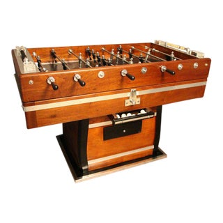 1930s Wood and Aluminum Foosball Table For Sale