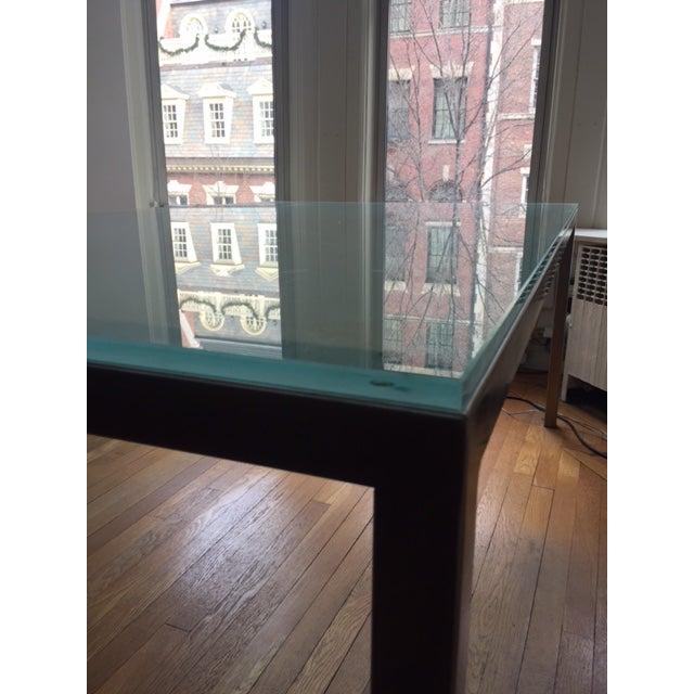 Conrad Glass Dinning Room Table on Steel Base - Image 4 of 4