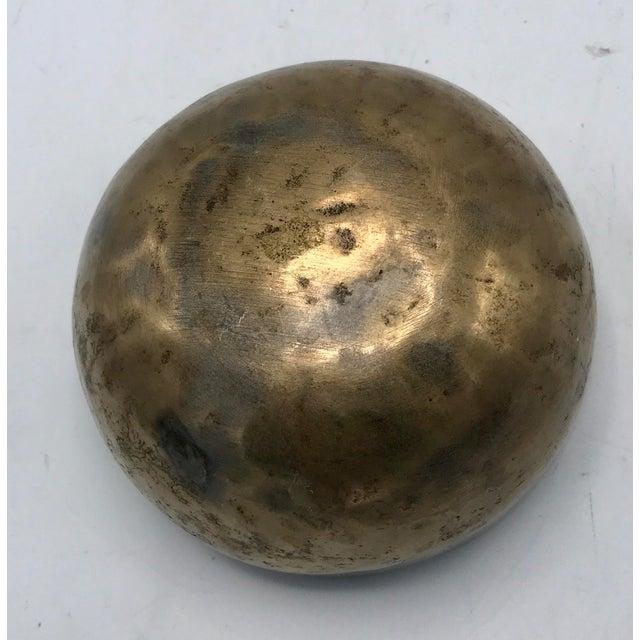 Antique Tibetan Hammered Brass Singing Bowl For Sale - Image 5 of 7