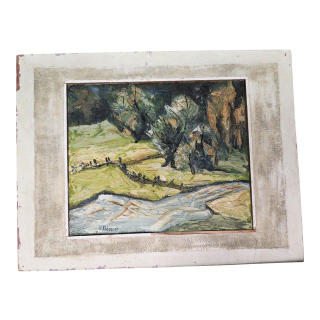 "Impressionist Oil by Listed Artist "" Jan Hillcourt"" For Sale"
