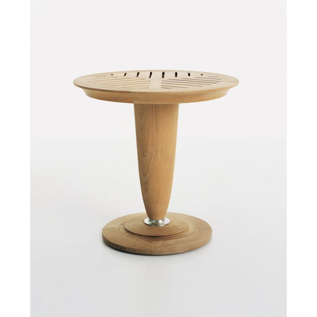 """Summit Furniture Loggia 18"""" Round Occasional Table For Sale - Image 4 of 4"""