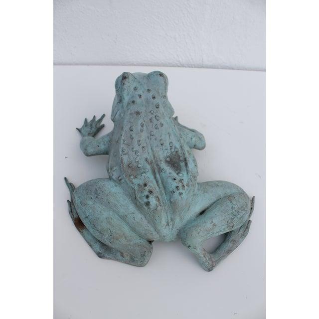 Mid-Century Modern Vintage Bronze Frog Garden Statue For Sale - Image 3 of 8