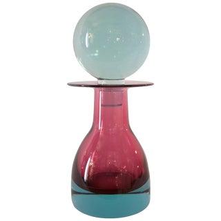 """1968 Italian Seguso """"13986"""" Model Bottle """"Sommerso"""" Glass"""