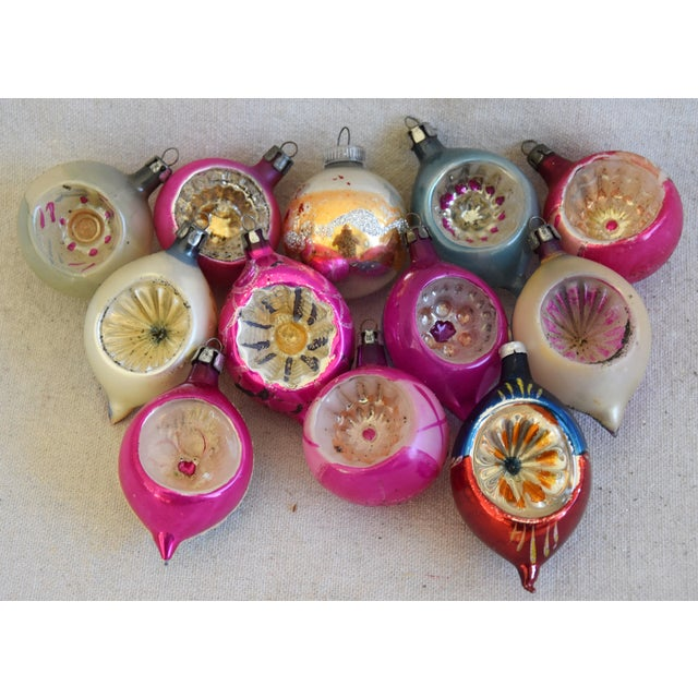 Midcentury Fancy Christmas Tree Ornaments W/Box - Set of 12 For Sale - Image 9 of 9