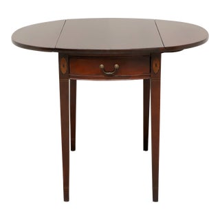 Vintage Inlaid Mahogany Hepplewhite Pembroke Table For Sale
