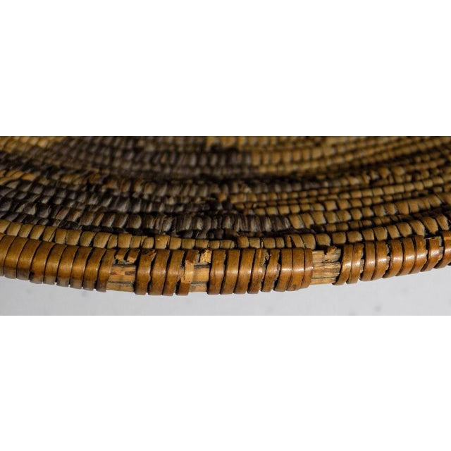 Native American Antique Native American Apache Woven Polychrome Horses Basket Bowl For Sale - Image 3 of 10