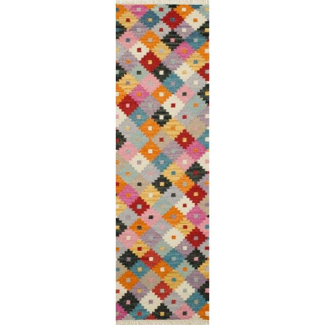 "2010s Momeni Caravan Hand Woven Multi Wool Area Rug - 7'6"" X 9'6"" For Sale - Image 5 of 6"
