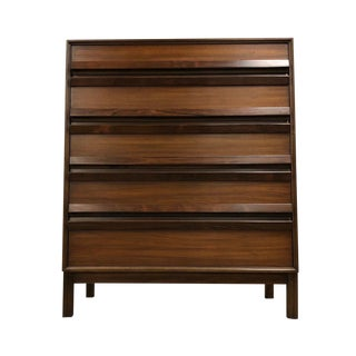 Walnut and Rosewood Tall Mid Century Dresser For Sale