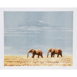 Joseph Vance Lithograph - Kilimanjaro Elephants For Sale