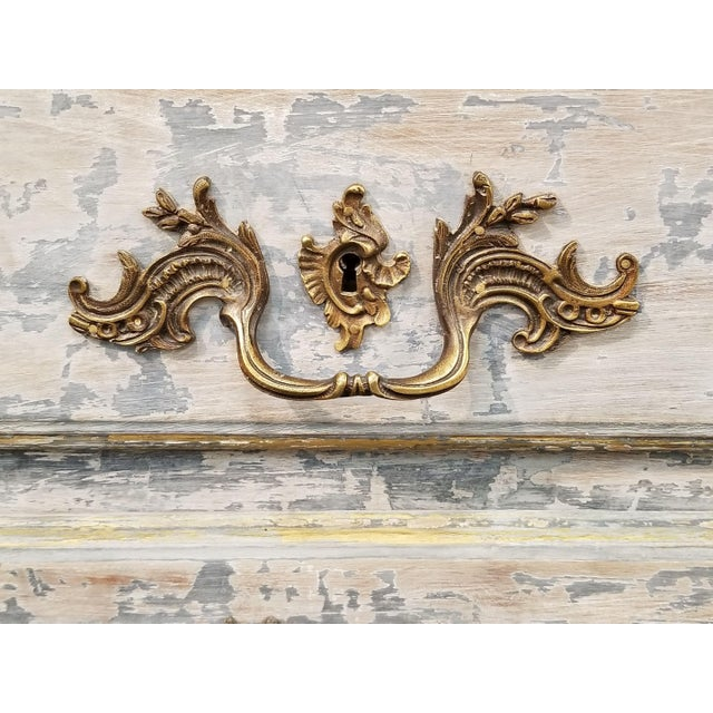 Metal 18th C. Louis XV Commode With Original Hardware For Sale - Image 7 of 12