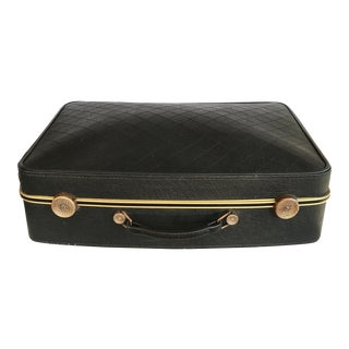 Vintage Luggage By Seward Black and Brass suitcase