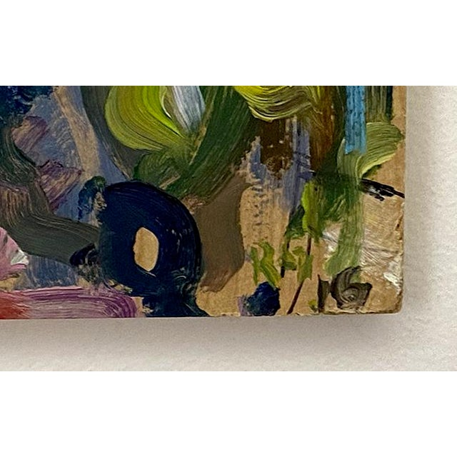Taupe Abstract Expressionist Original Oil Painting by Rebecca Dvorak – Virginia Museum of Fine Arts, Robinson House For Sale - Image 8 of 12