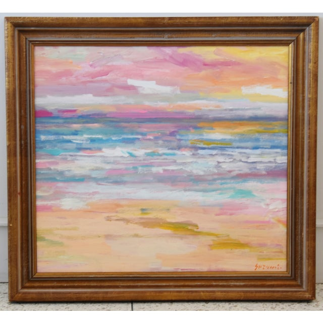 Stunning Impressionist Seascape Painting by Juan Pepe Guzman For Sale - Image 9 of 9
