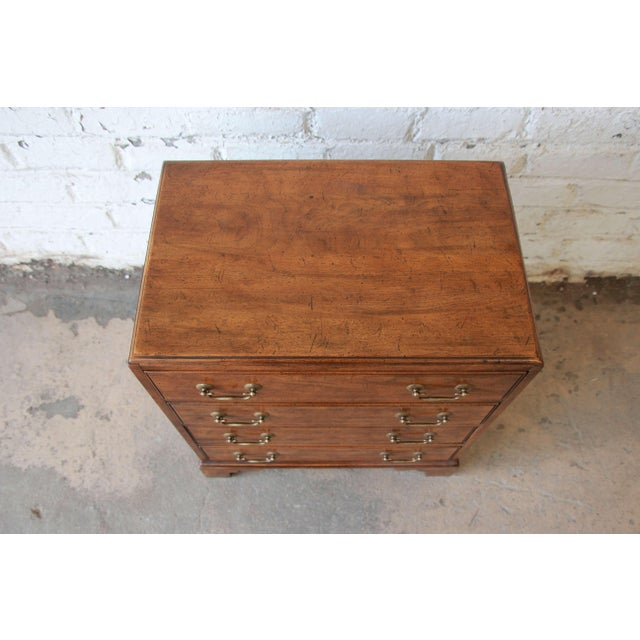 Walnut Vintage Walnut Chest by Davis Cabinet Co. For Sale - Image 7 of 9