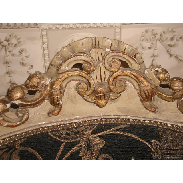18th Century Art Nouveau Hand-Carved Arm Chairs - a Pair For Sale - Image 4 of 9