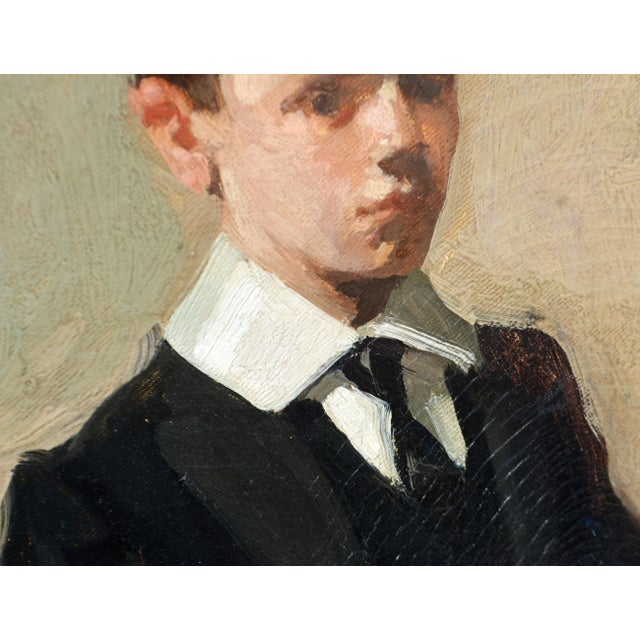 Early 20th Century To the Manor Born' Full Length Portrait by Maurice Wagemans, Belgian 1877-1927 For Sale - Image 5 of 12