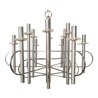 Italian Chandelier by Sciolari For Sale