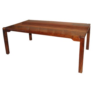 1970s Mid-Century Modern Bruce McQuilkin Custom Cocobolo Dining Table For Sale