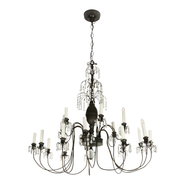 Hollywood Regency Style Chandelier - Image 1 of 3